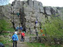 Climbing with the Weardale Adventure Centre team © Weardale Adventure Centre