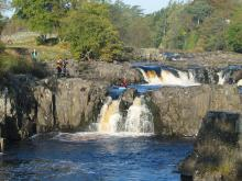 Canoeists at Low Force © NPAP/Elizabeth Pickett