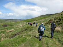 Walkers on Gairs track © NPAP/Elizabeth Pickett