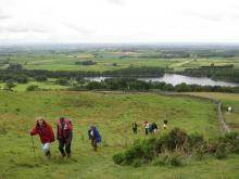 Walkers above Castle Carrock reservoir © NPAP/Elizabeth Pickett
