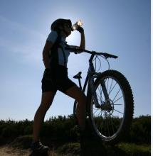 Cyclist in silhouette © K Gibson/NPAP